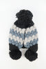 หมวกไหมพรมแต่งปอม - Unisex Knitted Ski Winter Hat Crochet Snowflake Pattern Beanie with Pom