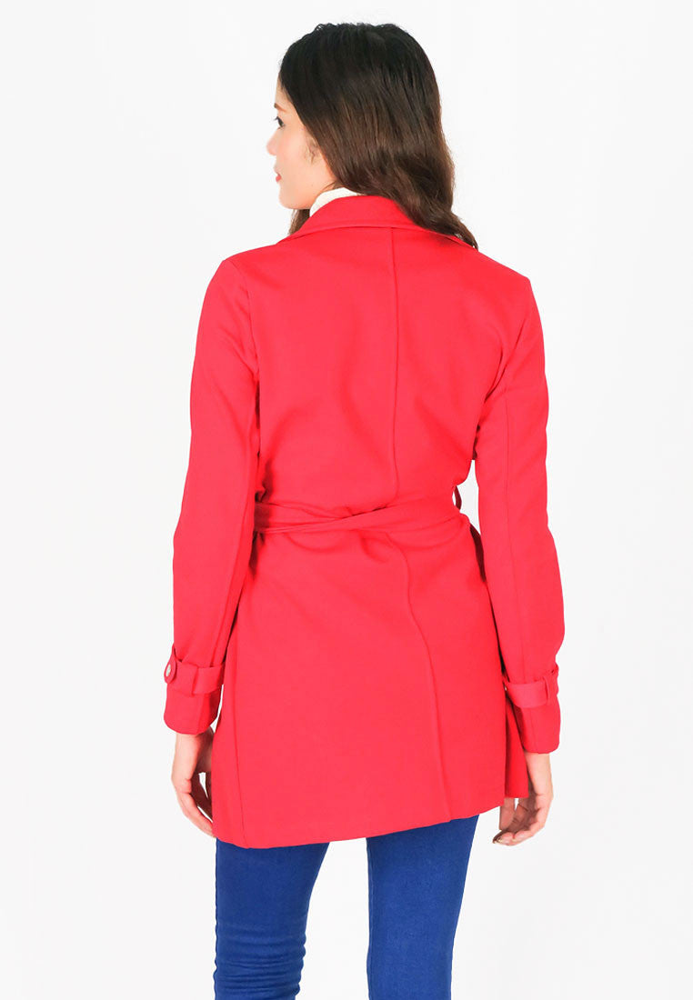 Women/'s Round Collar Slim Hip Long Solid Single Breasted Coat Warm Winter Jacket