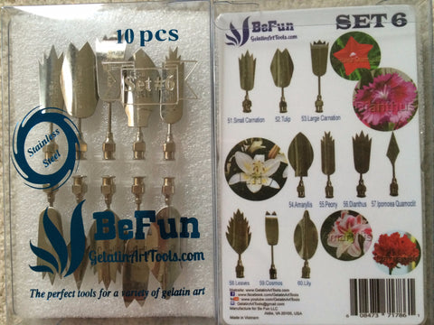 BeFun™ # 6 Gelatin Art Tools Set with serial number - Gelatin Art Tools - 1