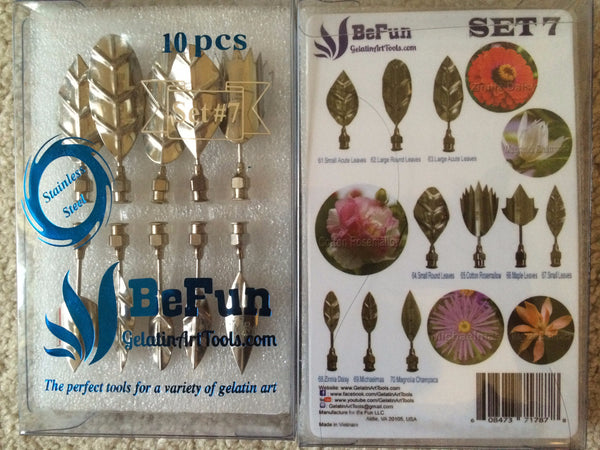 BeFun™ # 7 Gelatin Art Tools Set with serial number & 2 syringes - Gelatin Art Tools - 1