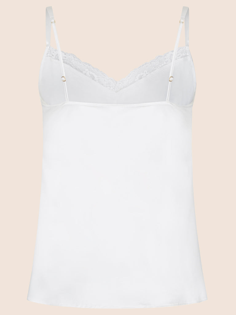 AUDREY CAMISOLE WITH LACE TRIM AND RETRO STRAP 2