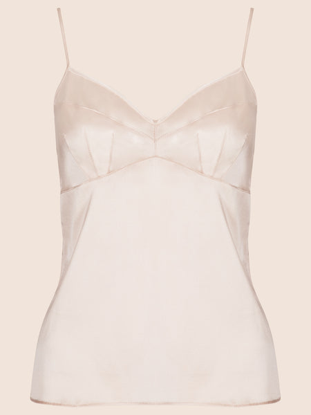 GRACE SILK CAMISOLE TOP - MEDIUM LENGTH