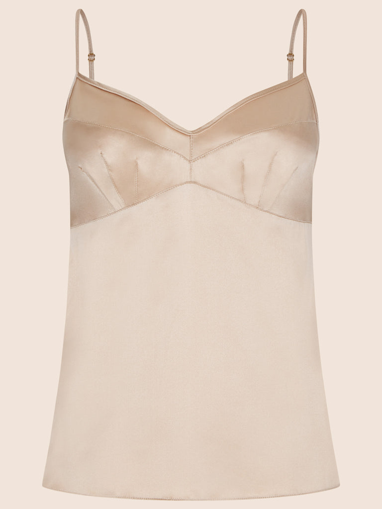 GRACE SILK CAMISOLE TOP S/S