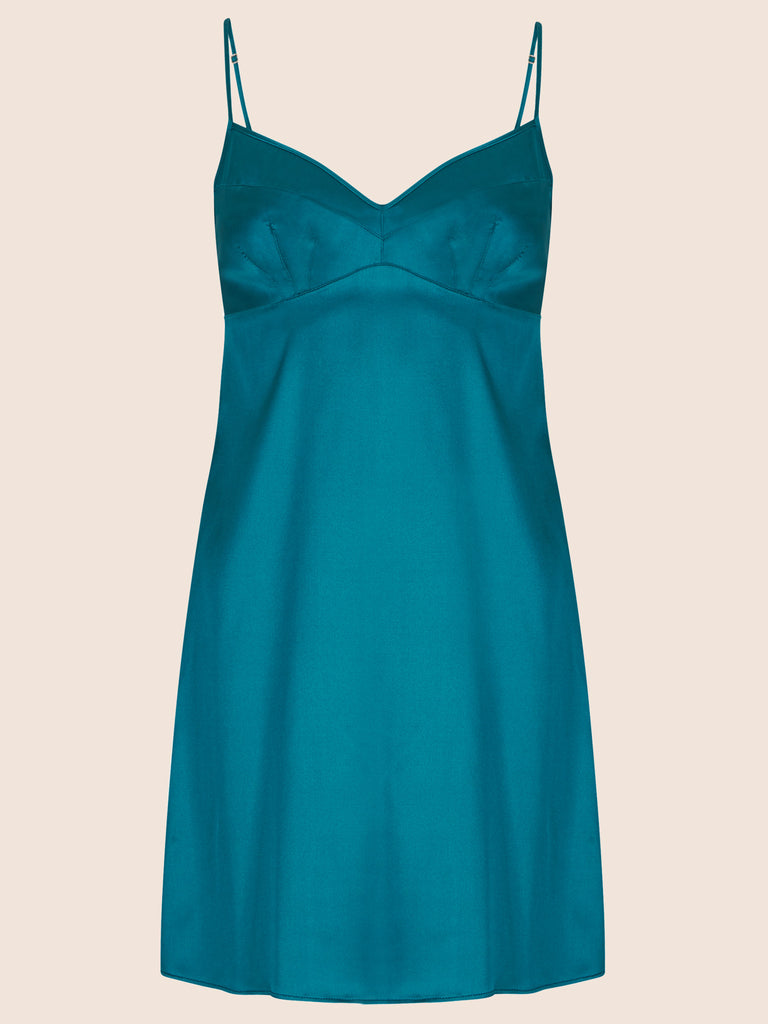 GRACE SILK CHEMISE SLIP DRESS