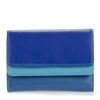 Double flap purse/wallet seascape is a colorful unique accessory with card and note section, id window, handy mini pen and a loose change pocket.