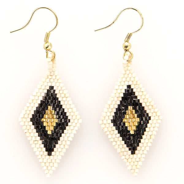 Ink and Alloy black and gold luxe earrings