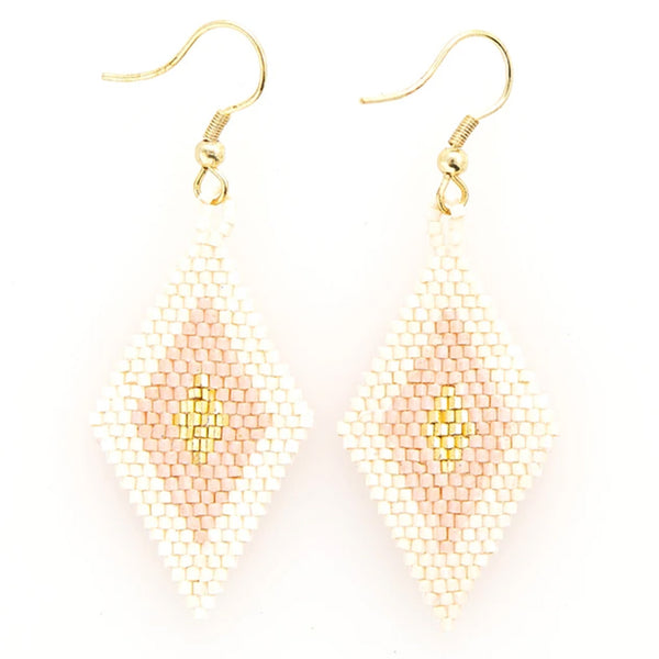 Ink and Alloy blush and gold luxe earrings