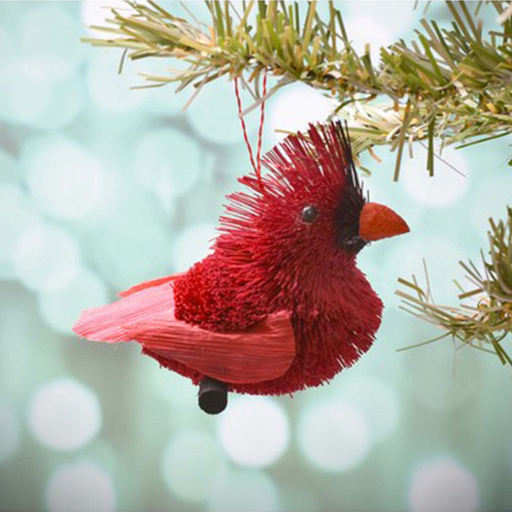 Gift Essentials Cardinal brush art ornament
