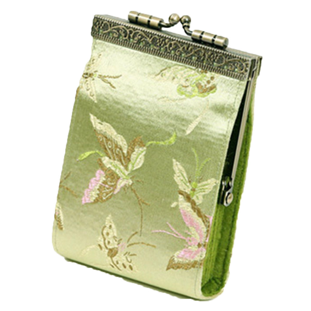 Cathayana gold butterfly RFID fabric card holder