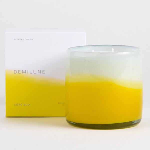 Demilune 2 wick cote sud candle with box