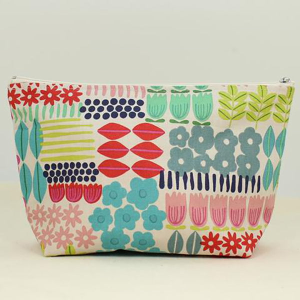 large cosmetic bag flowers by dana herbert