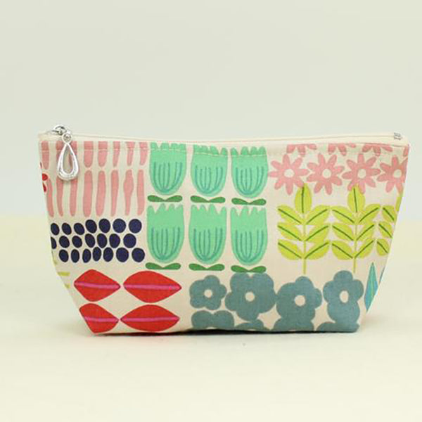 small cosmetic bag flowers by dana herbert