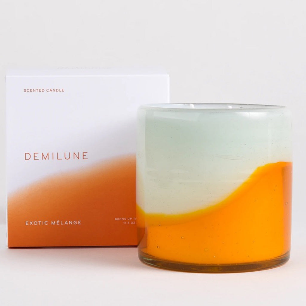 Demilune 2 wick exotic melange candle with box