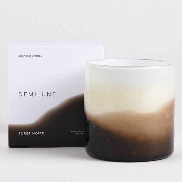 Demilune 2 wick Forêt Noire candle with box