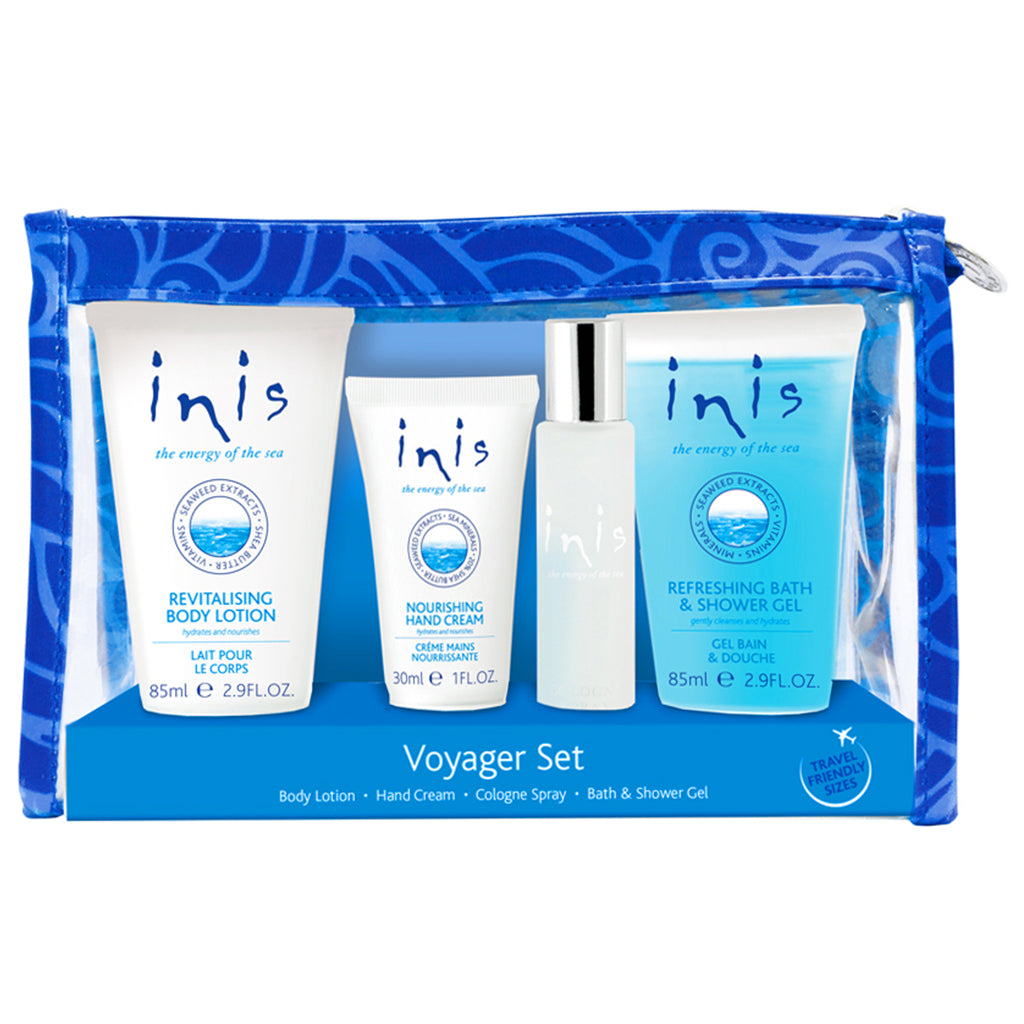 Inis unisex gift set with cologne, body lotion and bath and body gel