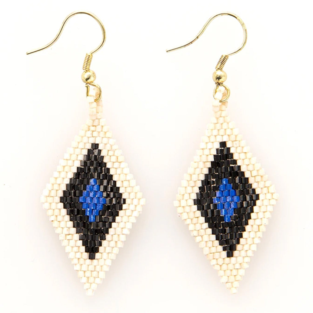 Ink and Alloy lapis and black luxe earrings