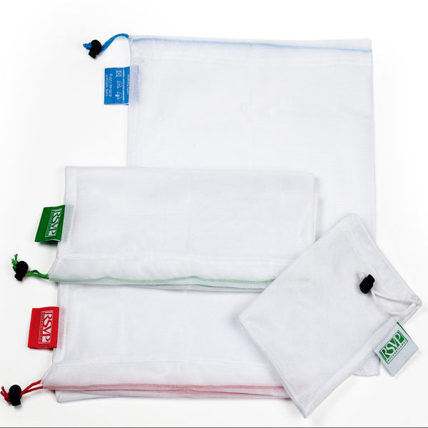 RSVP set of 3 large mesh produce bags