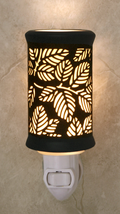 Porcelain Garden Leaves themed Night Light