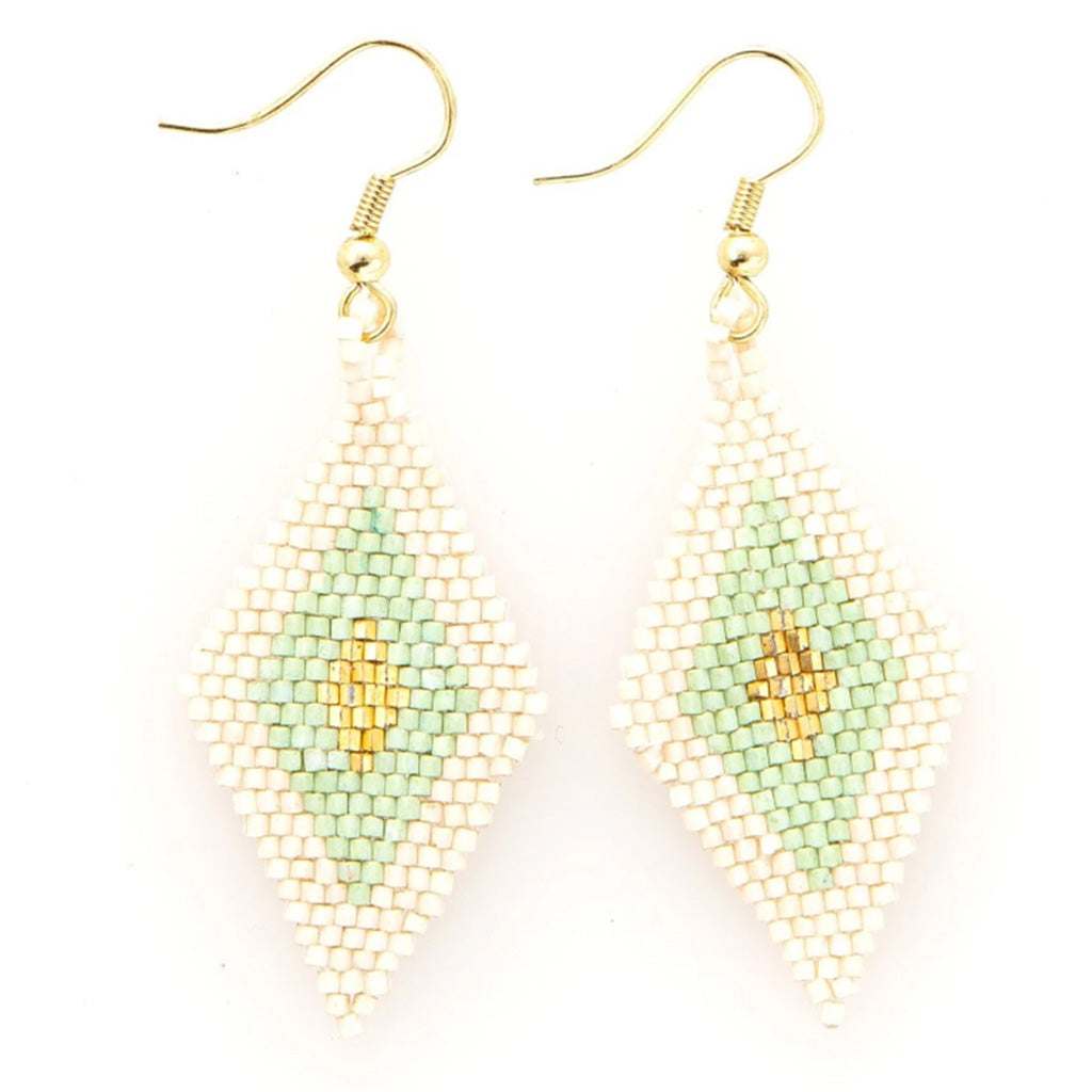 Ink and Alloy mint and gold luxe earrings