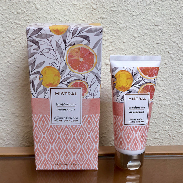 Mistral lotion and diffuser gift set with grapefruit scent