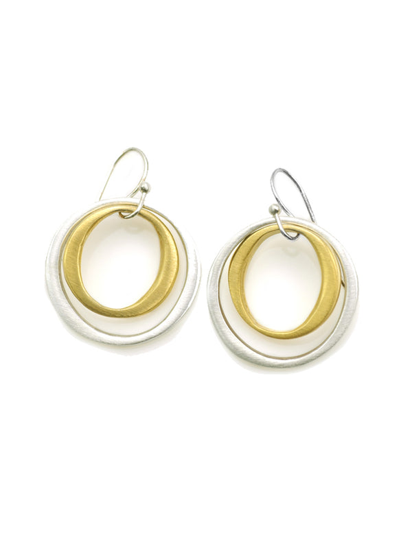 Philippa Roberts double circles sterling silver and gold vermeil earrings