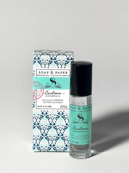 Oil perfume roller gardenia is made in the U.S.A. is made in small batches has a mysterious and sensual scent.
