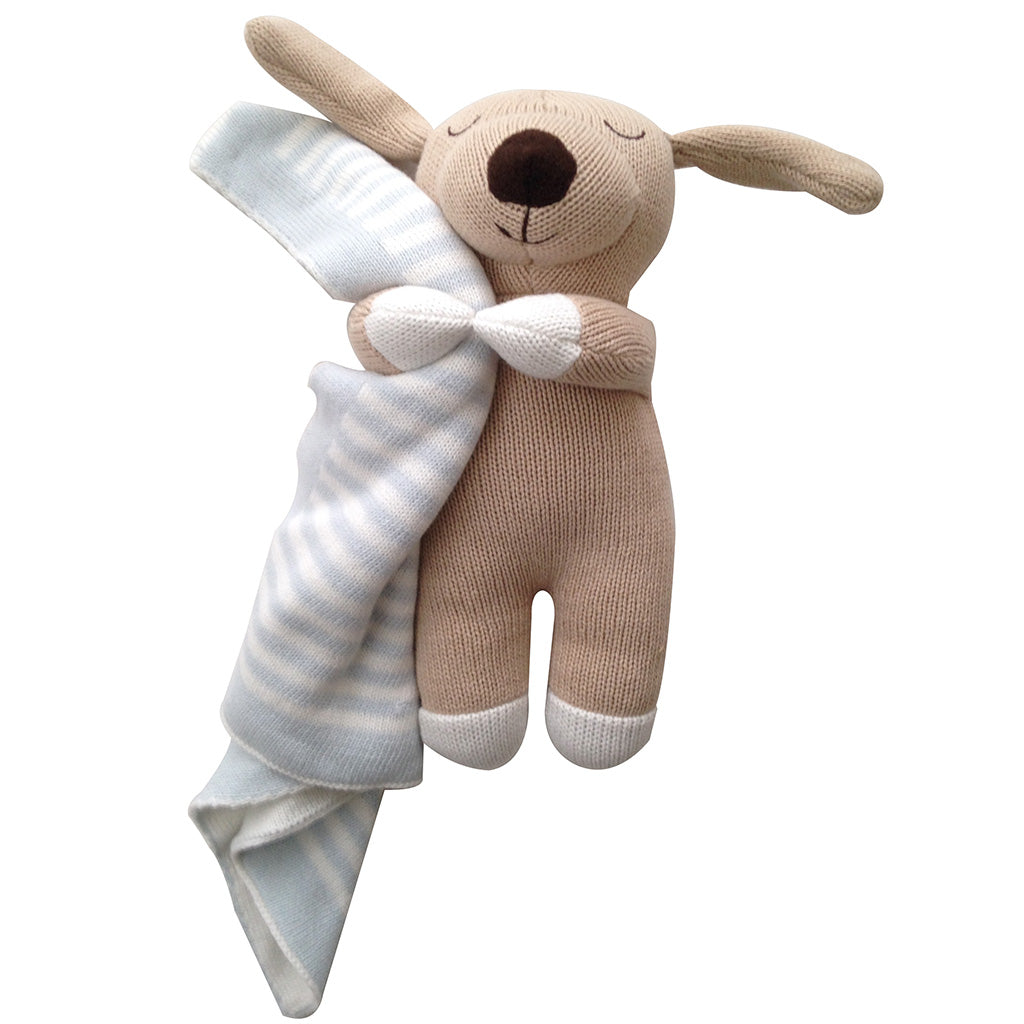Oscar the dog baby burrito baby gift w blanket