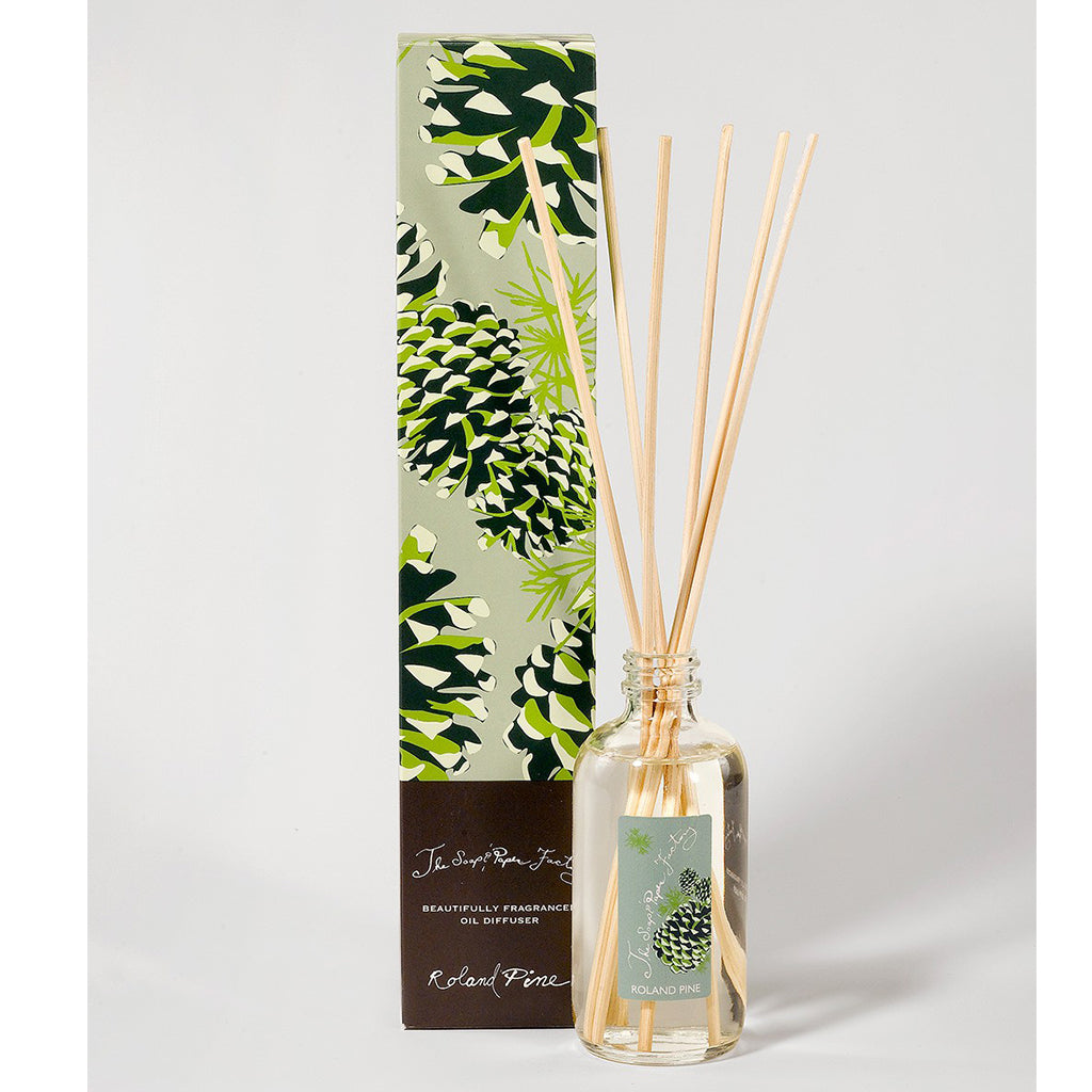 Soap and Paper Factory 4 ounce diffuser with Roland Pine scent.
