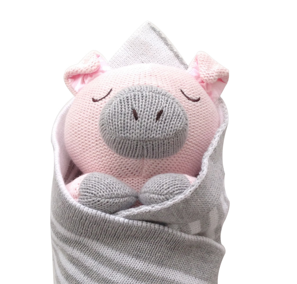 Penny the Piglet Baby Burrito Baby Gift Close Up