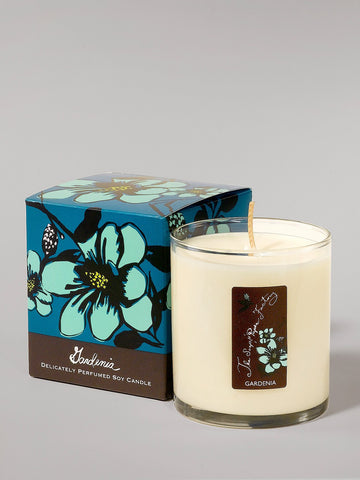 9.5 ounce soy candle gardenia is made in the U.S.A. is made in small batches has a tropical aroma.
