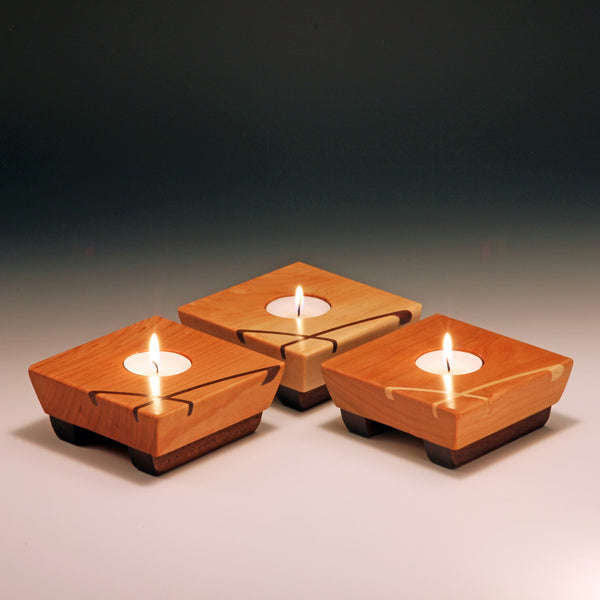Tea light  holder by ThomasWork is an artisan handmade cherry wood tea light holder. Made in the U.S.A.