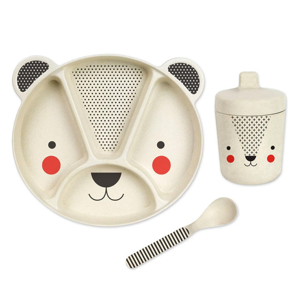 Petit Collage 3 piece bear mealtime set