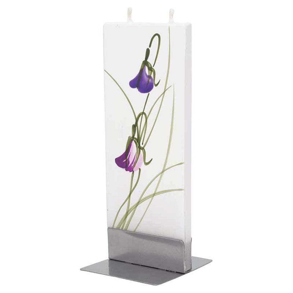 Flatyz handmade candle purple flower