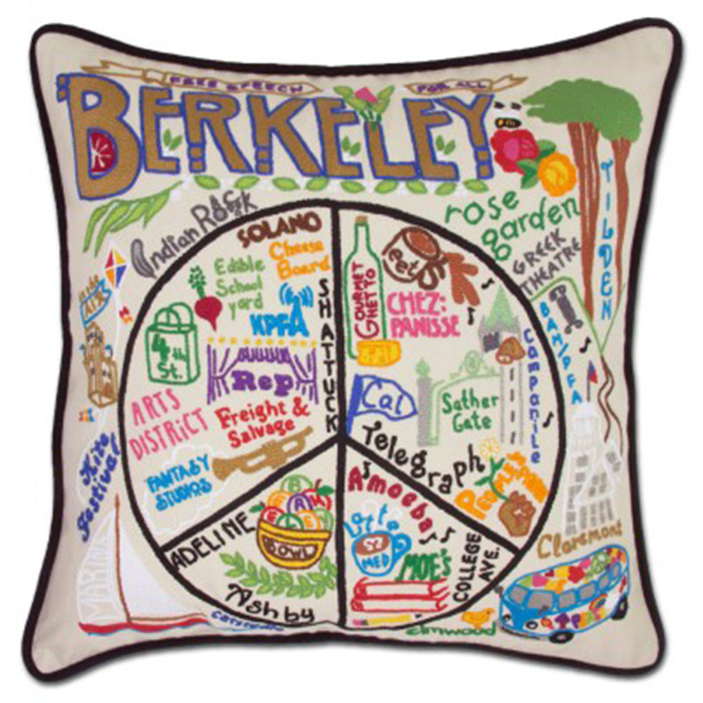 Catstudio hand embroidered Berkeley pillow