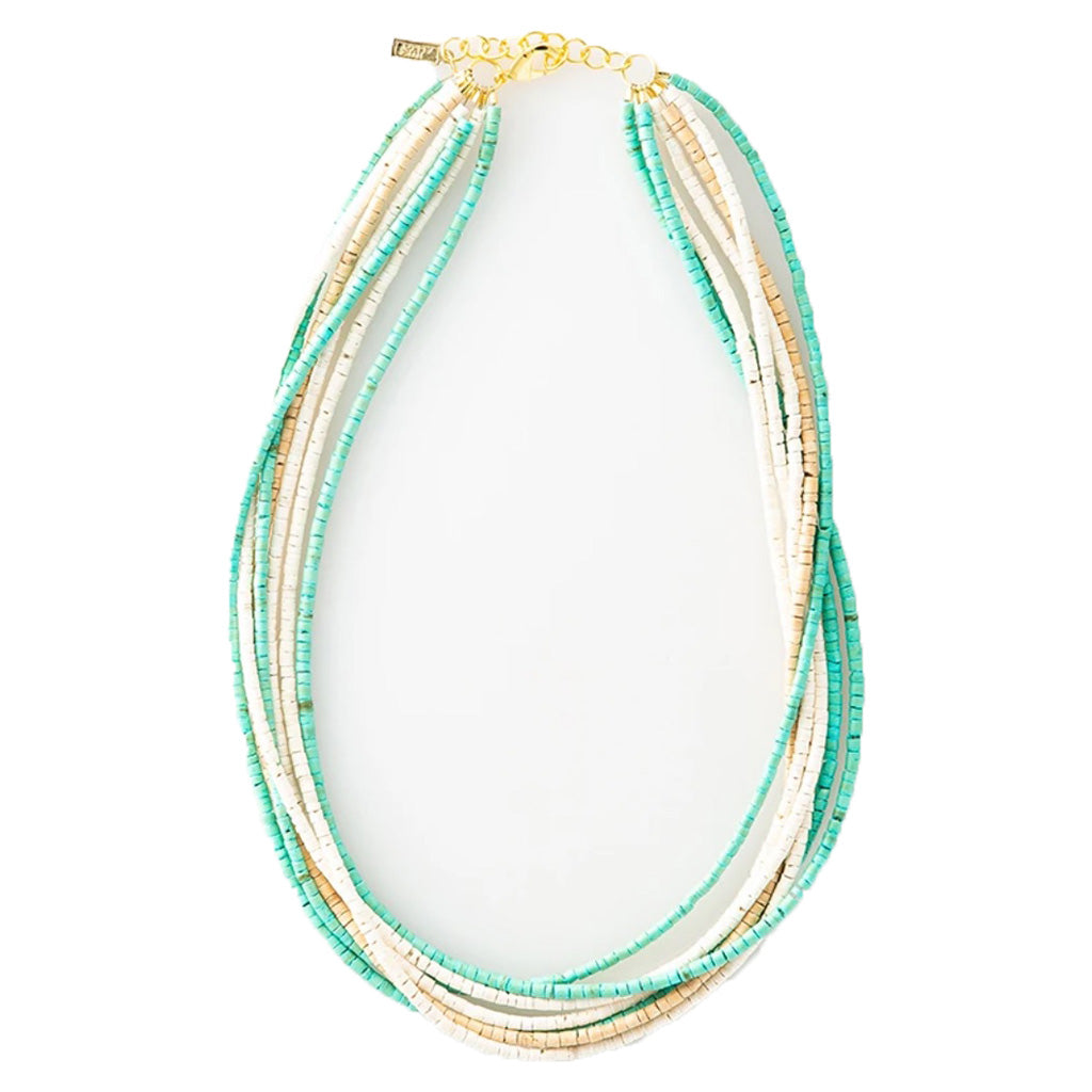 ink & alloy natural & turquoise coconut necklace