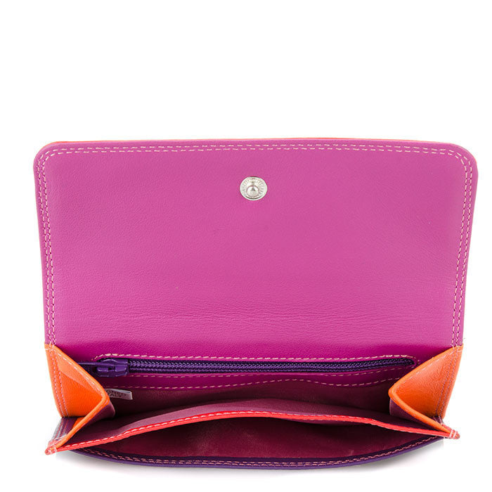double flap wallet sangria