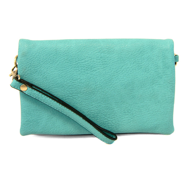 kate crossbody clutch aqua full view