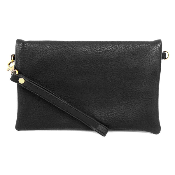 kate crossbody clutch black full view