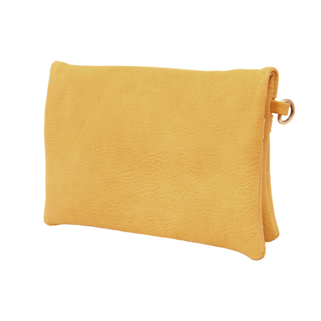 kate crossbody clutch dijon angled view