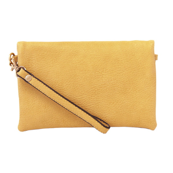 kate crossbody clutch dijon full view