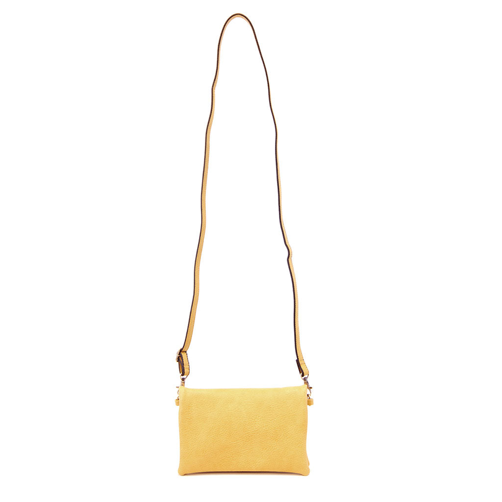 kate crossbody clutch dijon strap view