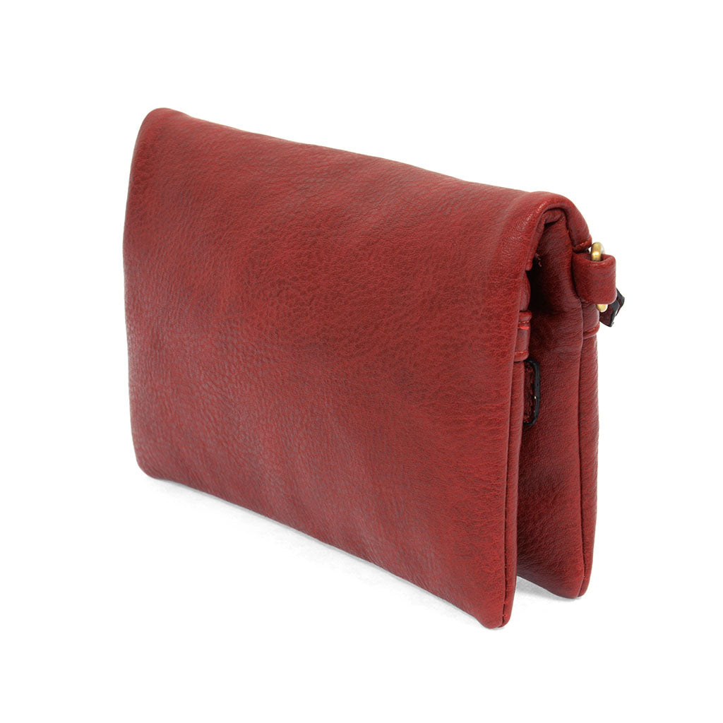 kate crossbody clutch sangria angled view