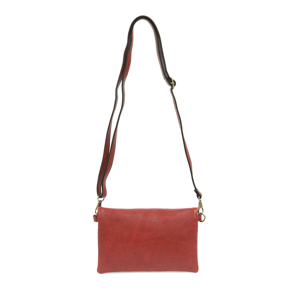 kate crossbody clutch sangria strap view