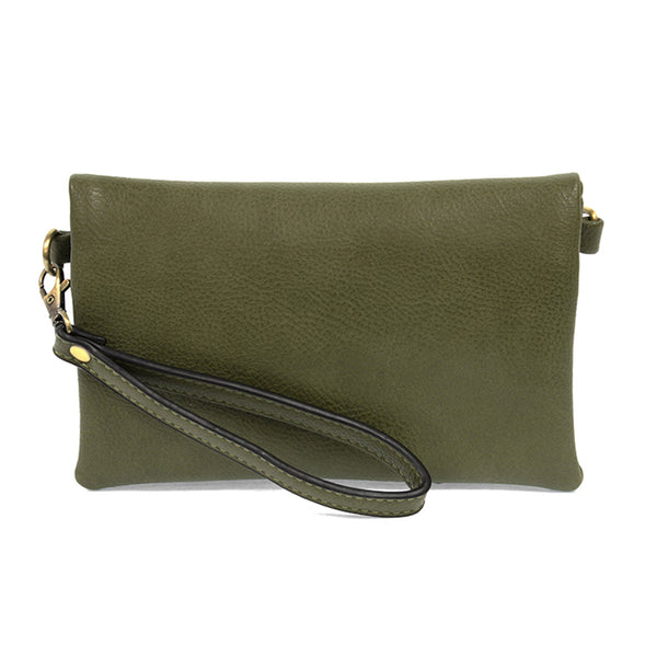 kate crossbody clutch basil full view