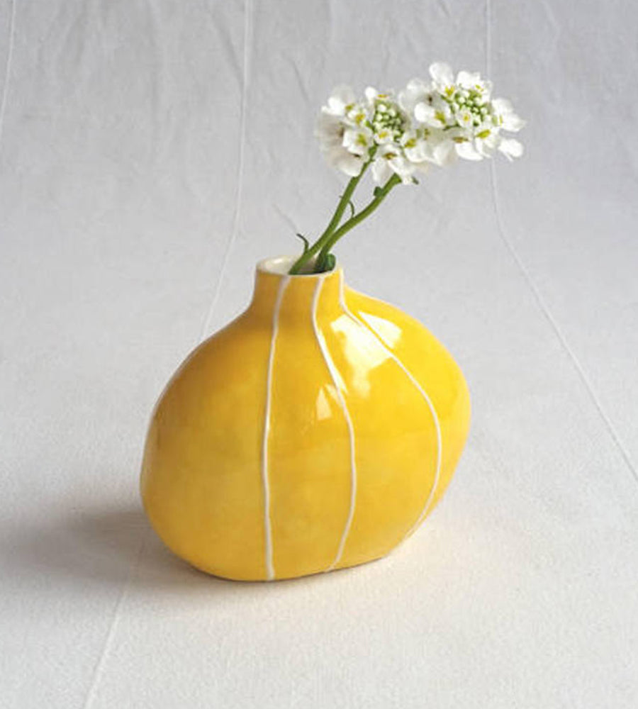 Kri Kri yellow ceramic vase