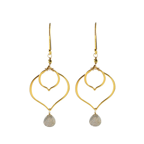 labradorite drop earrings by Alicia Van Fleteren