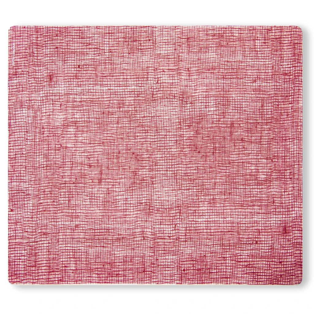 modern twist silicone placemat cranberry