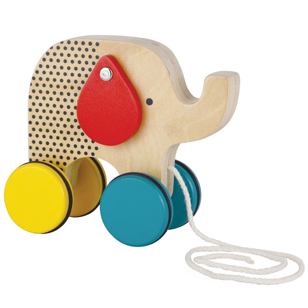 Petit Collage wooden jumbo jumping elephant toy