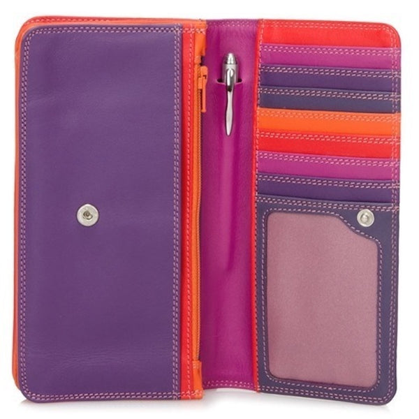 My Walit medium matinee wallet sangria open view