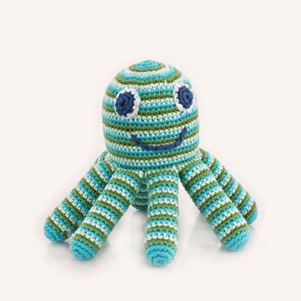 Pebble turquoise octopus rattle